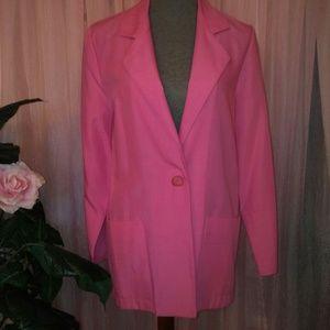 Ladies Pink Basic Blazer
